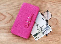 Velmi prostorná kožená dámská peněženka s mašličkou – růžová – SLEVA 70 % +  POŠTOVNÉ ZDARMA Na tento produkt se vztahuje nejen zajímavá sleva 71987dcbf5