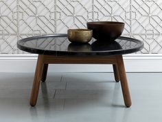 G&T by Bethan Gray Carve Coffee Table Round Walnut Trendy Furniture, Furniture Styles, New Furniture, Table Furniture, Furniture Design, Home Coffee Tables, Black Coffee Tables, Round Coffee Table, Patio Bar Set