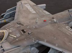 Harrier USMC Bulldogs by Modeler Shuichi Hayashi Scale Trumpeter Scale Models, Airfix Models, Model Airplanes, Model Building, Small World, Plastic Models, Military Aircraft, Fighter Jets, Aviation