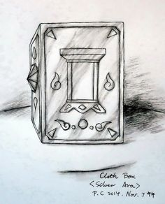 My paintings——<Saint Seiya>Hand painted.My own design Saint---Ara Silver Saint Nicklas. 2014.11.7中午完成[自己人设]圣斗士-尼可拉斯(圣衣箱子造型.水性笔+水彩笔)。就这样吧..........