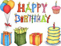 Happy Birthday - Tartas para felicitar el Cumpleaños en Inglés - ツ Tarjetas y Postales para Desear un Feliz Cumpleaños ツ