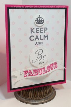 """12/18/2012; Robin Merriman at 'Trinity Designs' website; """"Fabulous"""" from retired stamp set 'Fabulous Flowers' (""""Dare to be Fabulous"""")"""