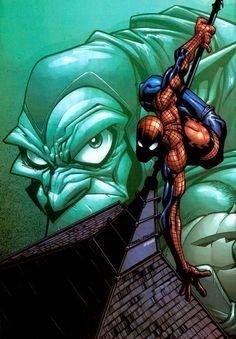 Spider-Man and Goblin by Humberto Ramos