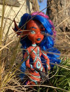 Mandarin Dragonet inspired mermaid doll repaint Mermaid Dolls, Doll Repaint, Inspired, Inspiration, Biblical Inspiration, Motivation