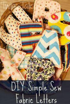 DIY: Simple Sew Fabric Letters – Twin Talk