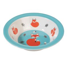 Melamine Bowl Rusty The Fox from Rex London - the new name for dotcomgiftshop. Great value gifts and homeware in original designs. Free UK delivery available.