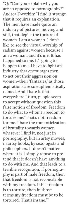"""...Lady, have you not heard of BDSM? Like, where people CONSENT to participate in that shit? SOME WOMEN LIKE BEING """"TORTURED"""" IT GETS THEM OFF JFC"""