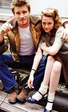 "Kristen Stewart and Garrett Hedlund portray the characters of Marylou and Dean Moriarty respectively in the movie ""On The Road""......"