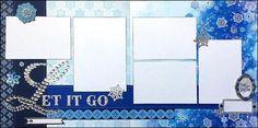 FROZEN Let it Go Layout 12x12 Premade Scrapbook by DaringDezinz