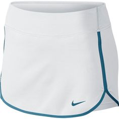 Women's Nike Dri-FIT Straight Court Tennis Skort ($40) ❤ liked on Polyvore featuring activewear, activewear skirts, white and stratus blue, nike, golf skirts, blue skort, nike sportswear and nike activewear