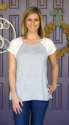 Stitch Fix - LOVE this shirt!! Comfy gray tshirt with some killer details and its slightly fitted!
