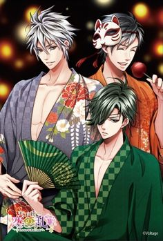 Three of my faves With my ninja looking very sexy ... Samurai Love Ballad PARTY one of the best Voltage games, totally recommend!
