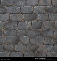 Dwarf Blacksmith Workshop - brick texture1, Peter Kyuyoung Lee on ArtStation at https://www.artstation.com/artwork/WbwbX