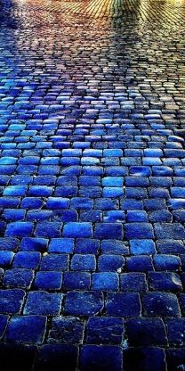 blue bricks.  Why aren't all bricks this beautiful blue?