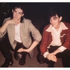 Nick Cave and Rowland S. Rowland S Howard, Hogwarts Professors, Slytherin Pride, The Bad Seed, Nick Cave, My Demons, Punk Goth, Black And White Portraits, Imagine Dragons