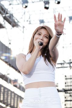 """ailee-is-queen: """" 150524 The Brilliant Motor Festival 2015 """" Ailee, Korean American, Korean Name, American Singers, Amy, Queen, Crop Tops, Beautiful, Fashion"""