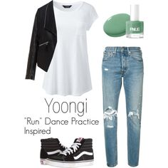 "Yoongi ""Run"" Dance Practice Inspired Outfit"