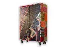 Mobili rivestiti di stoffa - Armadio patchwork