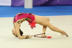 Sylvia Miteva, Bulgaria. Sylvia won bronze medals for her ribbon routines in World Championships in Mie (2009) and Montpellier (2011).