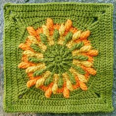Kalevala CAL - Part 5 - Big Oak, The World Tree - free crochet square pattern. Free Crochet Square, Crochet Square Patterns, Crochet Squares, Crochet Motif, Crochet Yarn, Crochet Flowers, Granny Squares, Crafts To Make And Sell, Knitting Designs