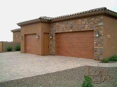 Coronado stone veneer on front of garage in Desert Foothills. - www.lonestaraz.com