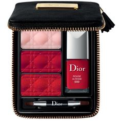 Dior Christmas Party Lip & Nail Set found on Polyvore