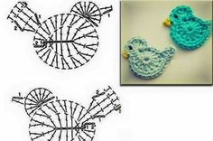 Captivating All About Crochet Ideas. Awe Inspiring All About Crochet Ideas. Art Au Crochet, Crochet Birds, Crochet Motifs, Easter Crochet, Crochet Diagram, Love Crochet, Irish Crochet, Crochet Animals, Crochet Flowers