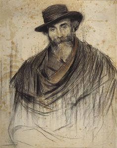 Portrait of Jaume Pahissa (Ramon Casas y Carbó - ) Fine Art Drawing, Guy Drawing, Life Drawing, Figure Drawing, Painting & Drawing, Art Drawings, Pencil Portrait, Portrait Art, Portraits