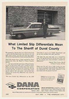 Duval County FL Sheriff Dale Carson Car Dana (1960)