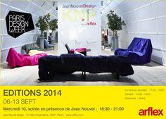 arflex - SAVE THE DATE  #arflex #jeannouvel #KNP #design #paris