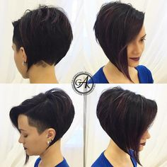 Aesthetic Hairstyles Short Hair Trends Are You Ready? - Page 41 of 102 - Inspiration Diary Super Short Hair, Short Hair Cuts, Short Hair Styles, Edgy Short Hair, Short Hair Undercut, Undercut Hairstyles, Short Hair Trends, Hair Streaks, Short Bob Haircuts