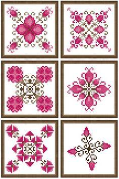 Pink Biscornu by Banu Demirel