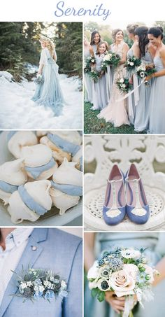 serenity 2016 #pantone color of the year #serenity #bluewedding