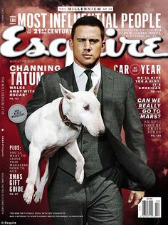Cover boy: Channing Tatum, 34, appeared on the cover for the December 2014 issue of Esquir...