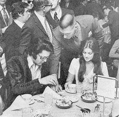 SPECIAL AWARD: Elvis and Priscilla 1971 US Jaycee's Ten Most Outstanding Young Men Awards Ceremony.