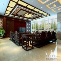 CHINESE STYLE INTERIORS | ... Villa decoration Chinese style drawings 2012 picture | Living Room