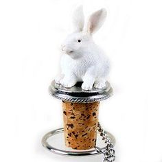 Wine Stoppers - Conversation Concepts Rabbit White Bottle Stopper -- Click image to review more details.