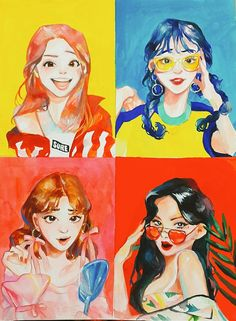 mamamoo 'yes i am' fanart Kpop Fanart, Illustrations, Illustration Art, Character Art, Character Design, Kpop Drawings, Fan Art, K Pop, Art Inspo