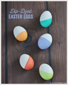 Since dip-dye is all the rage these days, we thought we'd try it on our Easter eggs! All you need are some hard boiled eggs, cups, and a good old-fashioned egg dye kit. Directions: 1. Mix the dye a...
