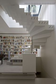 Exceptional white on white loft in Paris by the French architectural firm, Smoothcore Architects