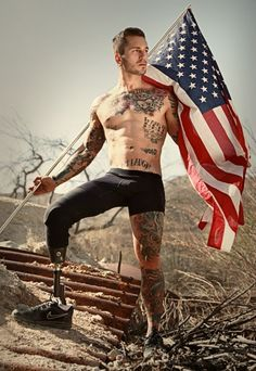 U.S. Marine Veteran and amputee turned underwear model, Alex Minsky. YES. THIS IS TRULY SEXY.  Respect