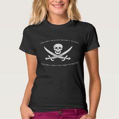 Pirating Teacher (Dark) T Shirt, Hoodie Sweatshirt
