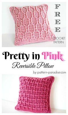 Free Crochet Pattern: Pretty In Pink Pillow | Pattern Paradise