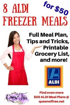 10 Free ALDI Freezer Meal Plans that will literally change your life! Each freezer meal plan includes free printable recipes and a grocery list. Budget Freezer Meals, Crock Pot Freezer, Freezer Cooking, Frugal Meals, Freezer Dinner, Crockpot Meals, Budget Recipes, Aldi Recipes, Budget Dinners