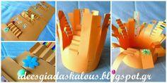 Ιδέες για δασκάλους:Τρελά αποκριάτικα καπέλα! Triangle, Crafts, Craft Ideas, Education, Places, Carnival, Manualidades, Handmade Crafts, Onderwijs