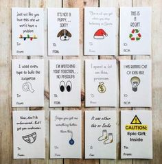 Christmas Gifts - Funny Christmas Sticker Gift Tags, Holiday Labels, Gift Wrap, Package Tag by Art. Funny Christmas Cards, Christmas Stickers, Christmas Gift Tags, Christmas Wrapping, Valentine Day Cards, Christmas Humor, Diy Gifts For Friends, Cards For Friends, Bestie Gifts