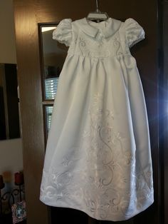 ways to use your mother's/grandmother's wedding gown | baby's christening gown made from mother's wedding gown