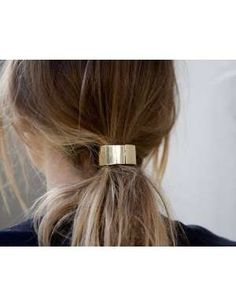 Gold-Plated Hair Cuff #hairstyles
