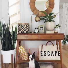 Rosie knows a good entryway when she sees one. [Tap the link in our profile to shop @sunwoven's look!] #MyOKLStyle #regram