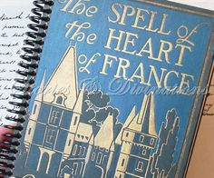 Handmade Journal  Antique French Book  The by StoriesDivinations